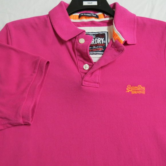 XL Pink Superdry Mens Cotton #39T Polo
